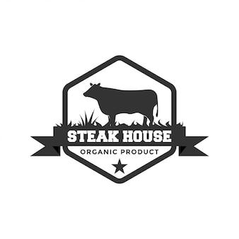 Steak house logo ontwerp inspiratie