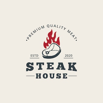 Steak house logo sjabloon