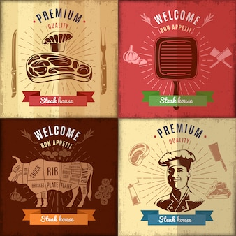 Steak house posterontwerp