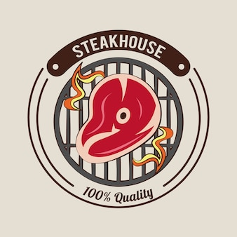 Steakhouse bbq-poster