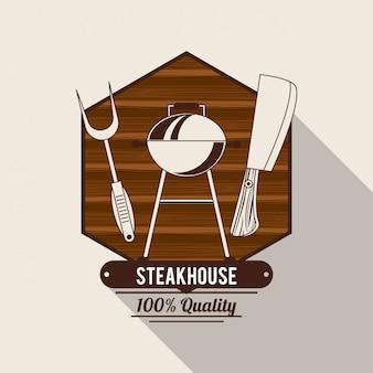 Steakhouse bbq-poster