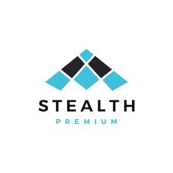 Stealth bommenwerper logo vector pictogram illustratie