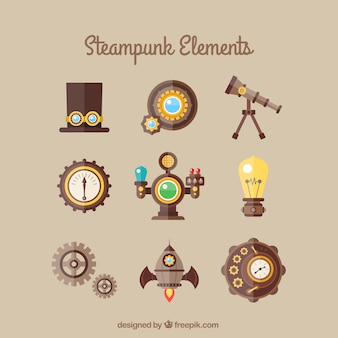 Steampunk element collectie