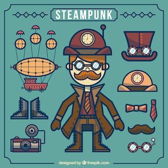 Steampunk element collectie