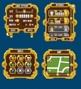 Steampunk game windows