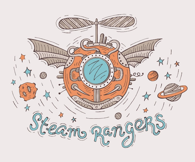 Steampunk illustratie