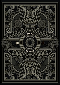 Steampunk poster sjabloon