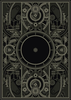 Steampunk postermalplaatje vectoreps