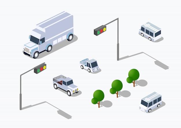Stedelijk isometrisch parkeren