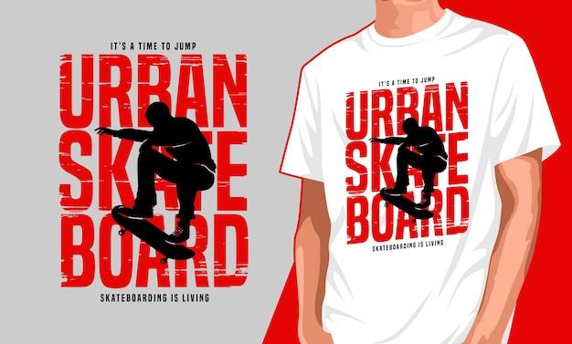 Stedelijk skateboarden t-shirtontwerp