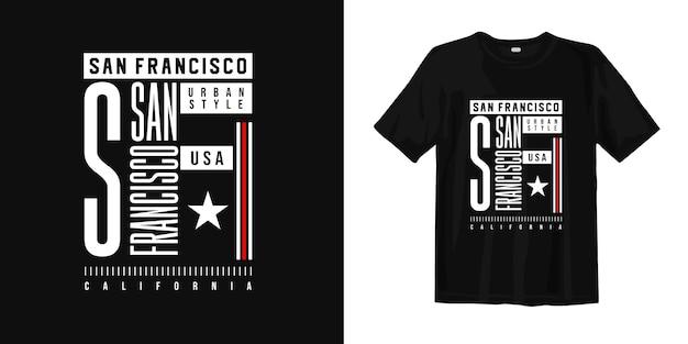 Stedelijk trendy grafisch t-shirtontwerp van sn francisco california