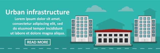 Stedelijke infrastructuur banner horizontaal concept
