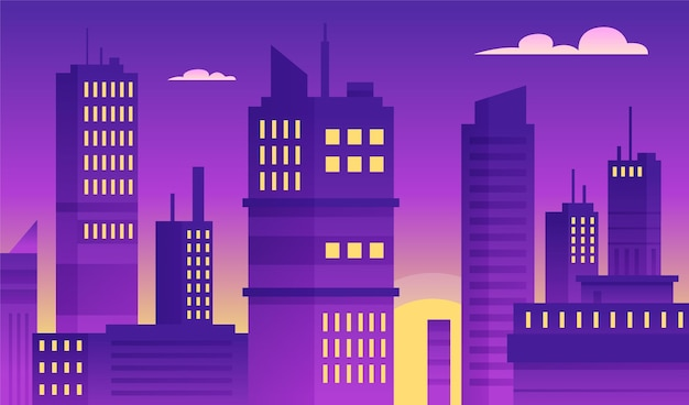 Stedelijke stad - achtergrond voor videoconferenties