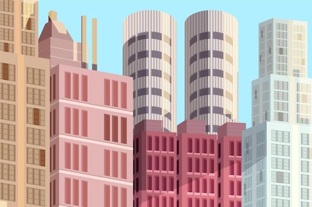 Stedelijke stadsachtergrond voor videoconferenties