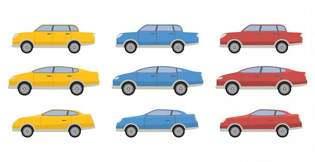 Stedelijke voertuigen auto sedan en hatchback en coupé.