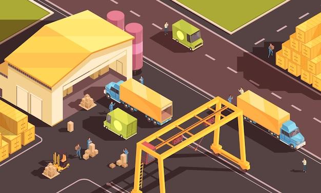 Stedelijke voorraad logistieke samenstelling