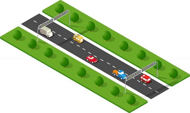 Stedelijke weg vervoeren
