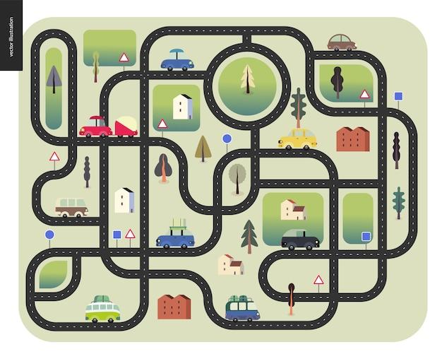 Stedelijke wegenkaart