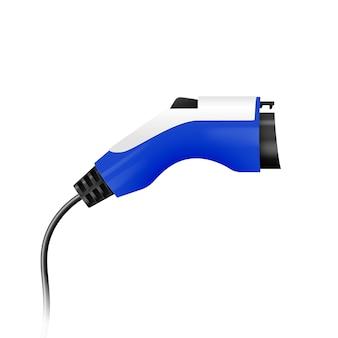 Steek de stekker in het laadstation van een elektrische auto