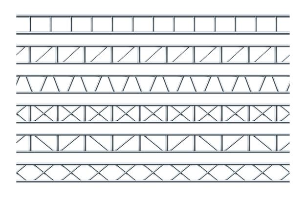 Steel truss girder realistic seamless