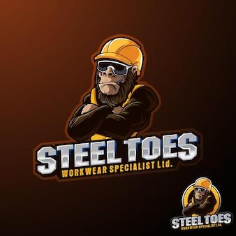 Steel worker gorilla worker helm