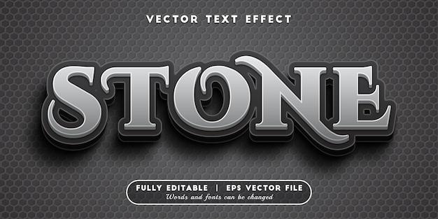Steen teksteffect met bewerkbare tekststijl