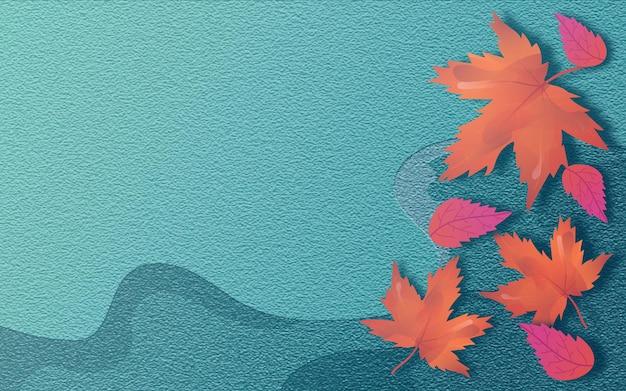 Steenbladeren herfstachtergrond met moderne stijl