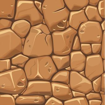Steentextuur op de bruine achtergrond van het kleuren naadloze patroon.