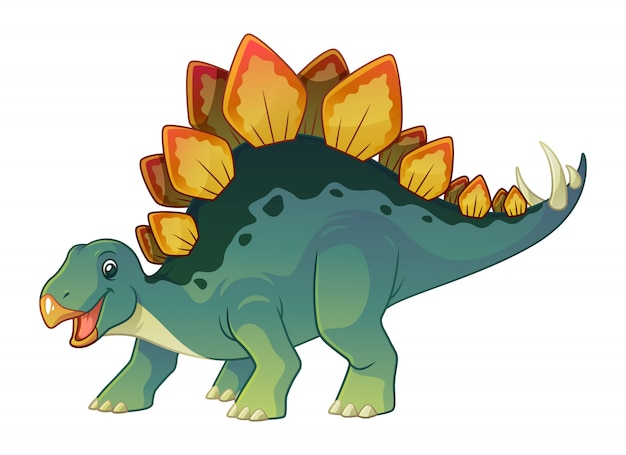 Stegosaurus cartoon afbeelding