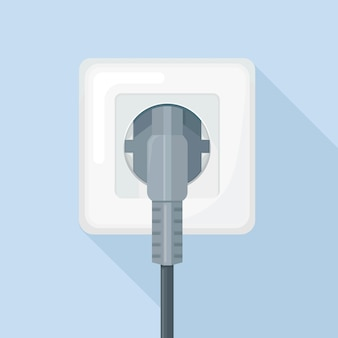 Stekkerdoos met stekker. elektriciteit. home elektrisch aansluiten en loskoppelen
