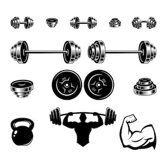 Stel apparatuur fitness vector
