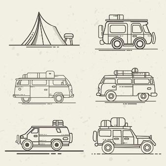 Stel auto's in voor reizen
