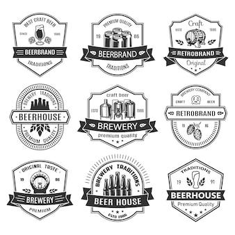 Stel badges in met bierobjecten