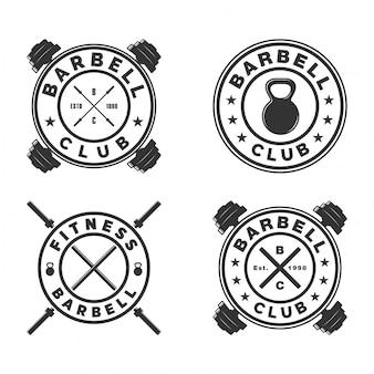Stel barbell-logo in