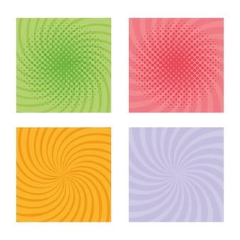 Stel burst-patroonkleuren in