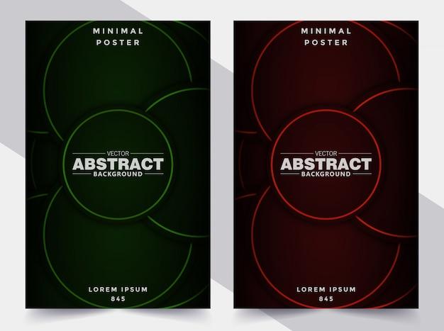 Stel cover abstracte geometrische cirkelvorm in