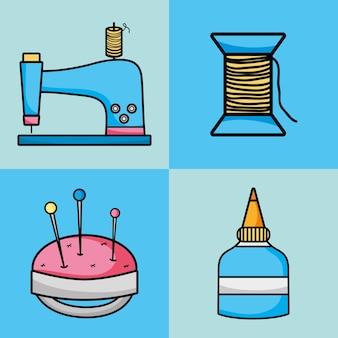 Stel creatieve objecten in voor kunst en ambacht