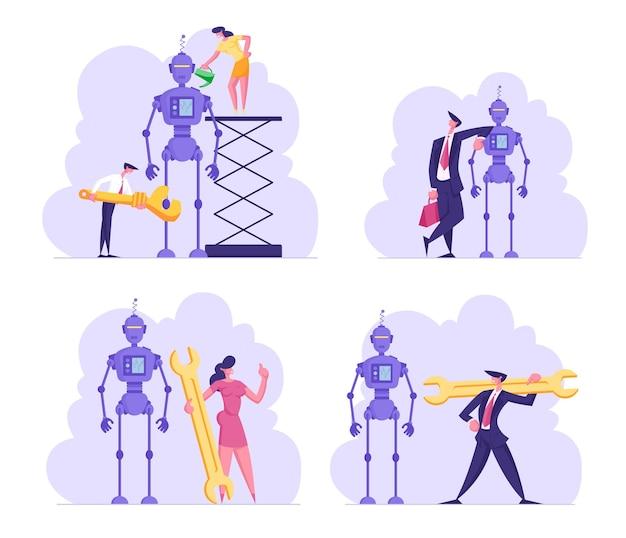 Stel cyborg-creatieproces in