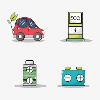 Stel de batterij van een elektrische auto en de technologie voor het opladen van energie in