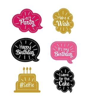 Stel een chatballon in met een blij verjaardagsboodschap
