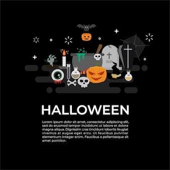 Stel een happy halloween-feest in