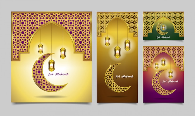 Stel eid mubarak 4 color option in