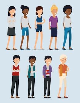 Stel gemeenschapssamenwerking voor meisjes en jongens in