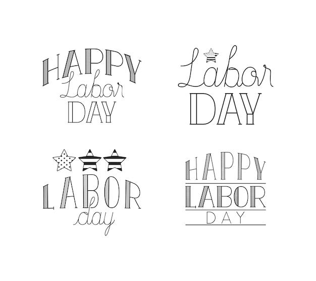 Stel handmatige lettertypen in op de dag van de arbeid
