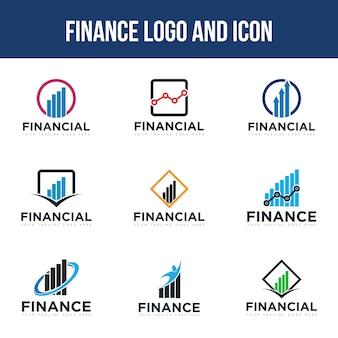 Stel het finance-logo in
