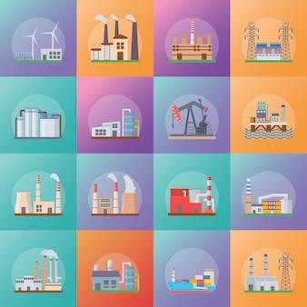 Stel in als industriële pictogrammen
