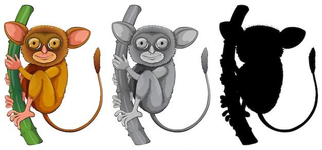 Stel in als tarsier-teken