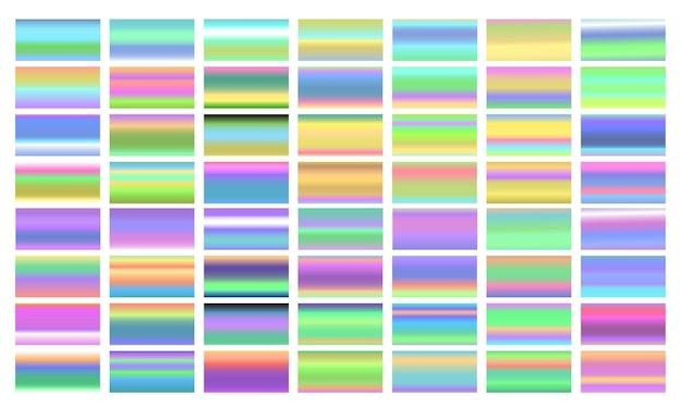 Stel kleurrijke verlopen geïsoleerd in
