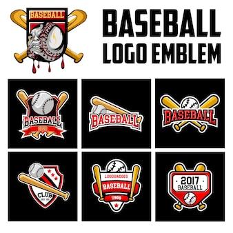 Stel logo embleem honkbal