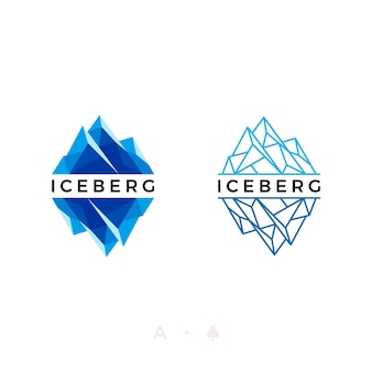Stel logo-ontwerp van ijsberg of ijspiek in